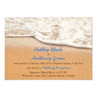 Nur Ozean-Strand-Hochzeits-Empfang Karte