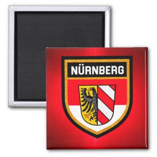 Nürnberg Flagge Quadratischer Magnet