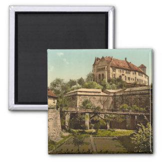 Nürnberg-Schloss, Bayern, Deutschland Quadratischer Magnet