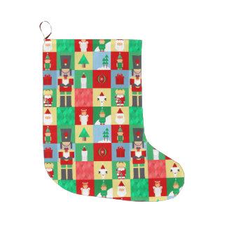 Nussknacker-Muster-WeihnachtsStrumpf Großer Weihnachtsstrumpf