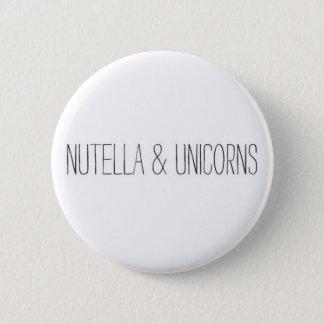 Nutella u. Einhörner Runder Button 5,1 Cm