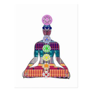 NVN723 Chakra Yoga-Meditation beherrscht Practic Postkarte