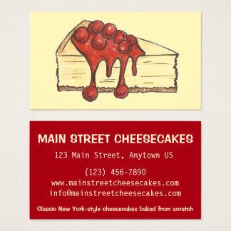NYC New York City Käsekuchen-Bäckerei gebacken Visitenkarte