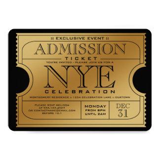 NYE Goldkarten-Party Einladungen