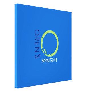 O-Monogramm-Initialen-Bar-Schläger Mitzvah Leinwanddruck