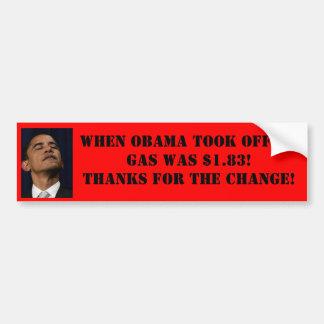 Obama-Gaspreis-Autoaufkleber Autoaufkleber