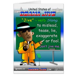 Obama Jive ist ein Nomen Karte