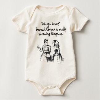OBAMA macht Sachen am schlechtesten Baby Strampler