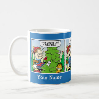 """""""Oben bis Comic-Streifen-Tasse Julis"""" Garfield Tasse"""