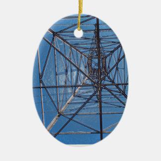 Oben schauen unter dem Power zeichnet Turm Ovales Keramik Ornament