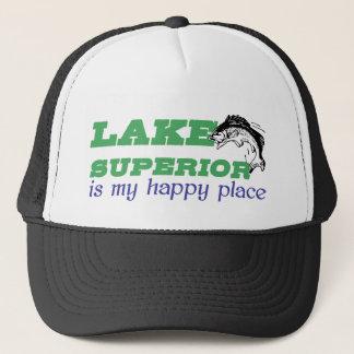 Oberer See ist mein glücklicher Platz Truckerkappe