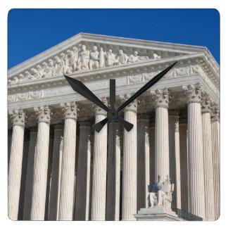 Oberstes Gericht der Vereinigten Staaten Quadratische Wanduhr