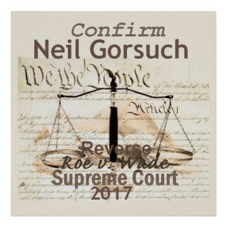 Oberstes Gericht Neils GORSUCH PLAKAT Druck