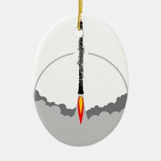 oboe Rakete Keramik Ornament