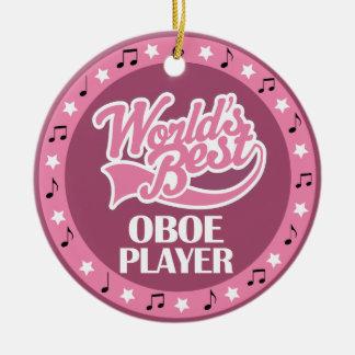 Oboe Spieler-Geschenk für sie Keramik Ornament