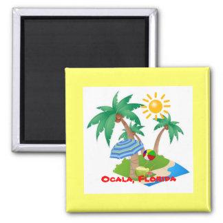 Ocala, Florida-Kühlschrankmagnetschablone Quadratischer Magnet