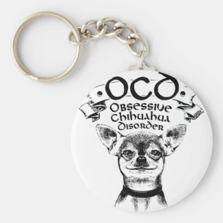 OCD besessene Chihuahua Schlüsselanhänger