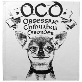 OCD besessene Chihuahua Serviette
