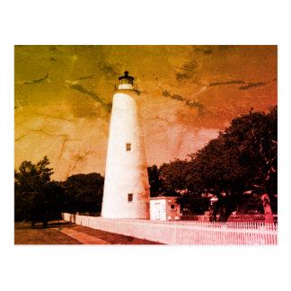 Ocracoke Leuchtturm Postkarte