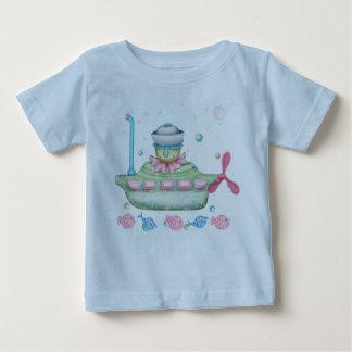 OCTOPUSS BABY NIEDLICHES Baby-Geldstrafe-Jersey-T Baby T-shirt