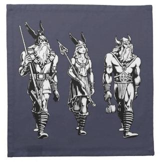Odin, Freyja u. Thor Stoffserviette