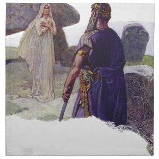 Odin vor einem Völva Serviette