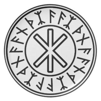 Odins Schutz No.2 (Schwarzes) Teller