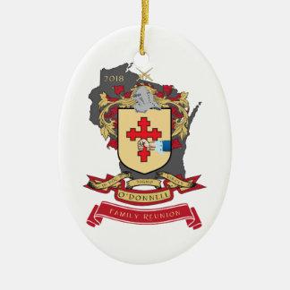 O'Donnell-Familien-Wiedersehen-Oval-Verzierung Keramik Ornament