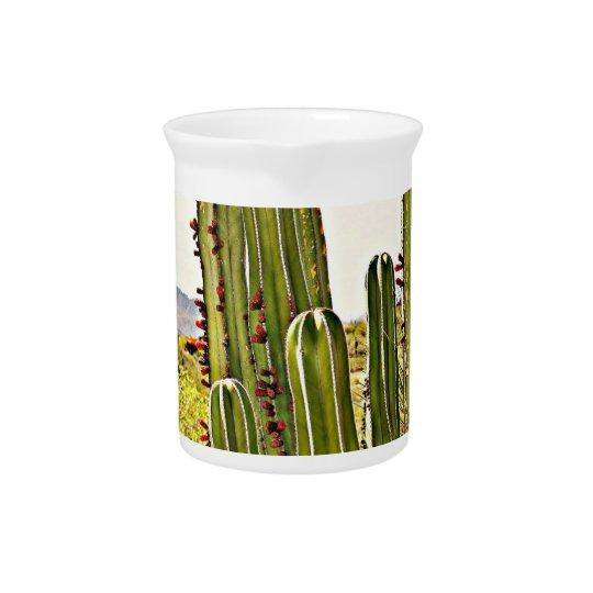 Ofen-Rohr-Kaktus-Porzellan-Krug Getränke Pitcher
