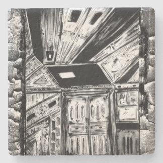 Offene Türen Steinuntersetzer