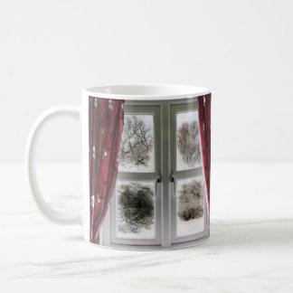 Offenes und geschlossenes Fenster an zu einer Tasse