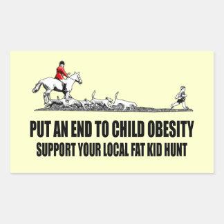 Offensiver fetter Kinderwitz Sticker