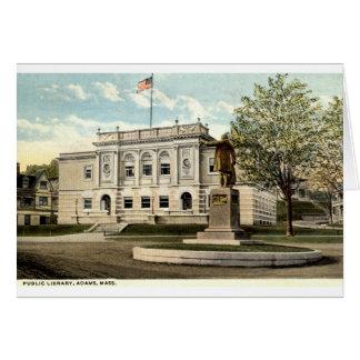 Öffentliche Bibliothek, Adams, Mass. 1917 Karte
