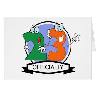 Offiziell 23 Geburtstags-Fahne Grußkarte