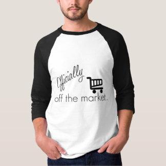 Offiziell weg vom Markt-lustigen Hochzeits-Entwurf T-shirts