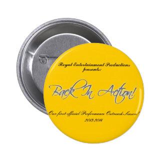 Offizielle RÜCKSEITE IN AKTION Knopf Runder Button 5,1 Cm