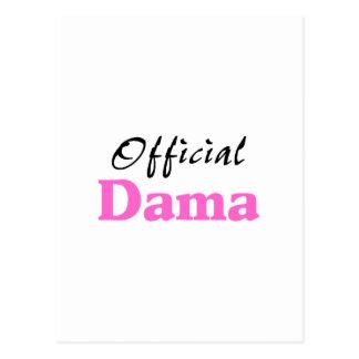Offizieller Dama Postkarte