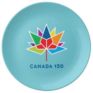 Offizielles Logo Kanadas 150 - Mehrfarben- und Porzellanteller