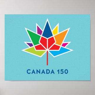 Offizielles Logo Kanadas 150 - Mehrfarben- und Poster