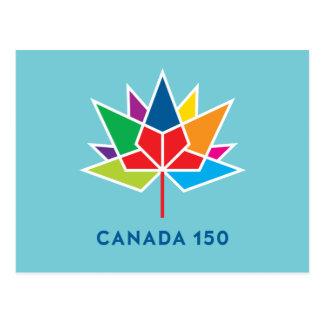 Offizielles Logo Kanadas 150 - Mehrfarben- und Postkarte
