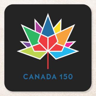 Offizielles Logo Kanadas 150 - Mehrfarben- und Rechteckiger Pappuntersetzer