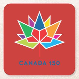 Offizielles Logo Kanadas 150 - Mehrfarben- und rot Rechteckiger Pappuntersetzer