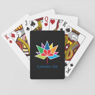 Offizielles Logo Kanadas 150 - Mehrfarben- und Spielkarten