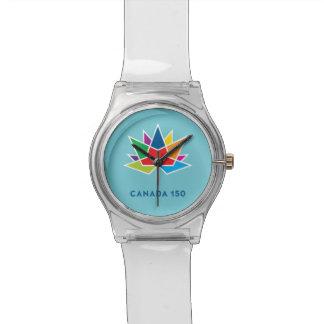 Offizielles Logo Kanadas 150 - Mehrfarben- und Uhr