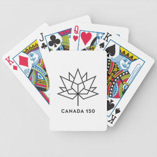 Offizielles Logo Kanadas 150 - schwarze Kontur Bicycle Spielkarten