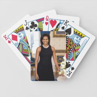 Offizielles Porträt erster Dame Michelle Obama Bicycle Spielkarten