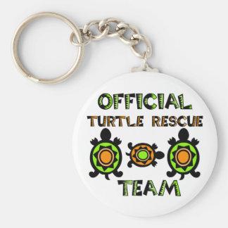 Offizielles Schildkröte-Rettungs-Team 1 Standard Runder Schlüsselanhänger