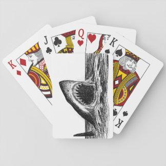 ÖFFNEN Sie KIEFER Hai-klassische Spielkarten