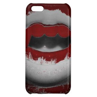 Öffnen Sie Mund-blutige Vampirs-Reißzähne Hüllen Für iPhone 5C