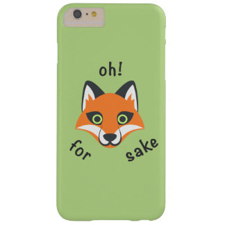 Oh! Für Fox-Grundphrase Emoji Cartoon Barely There iPhone 6 Plus Hülle
